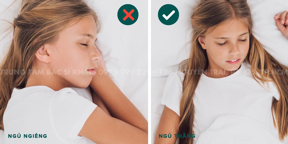 tư thế ngủ đúng sau khi nâng mũi